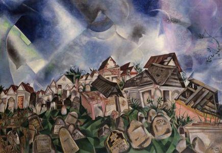 """""""Cimetière"""" (1917) de Marc Chagall"""