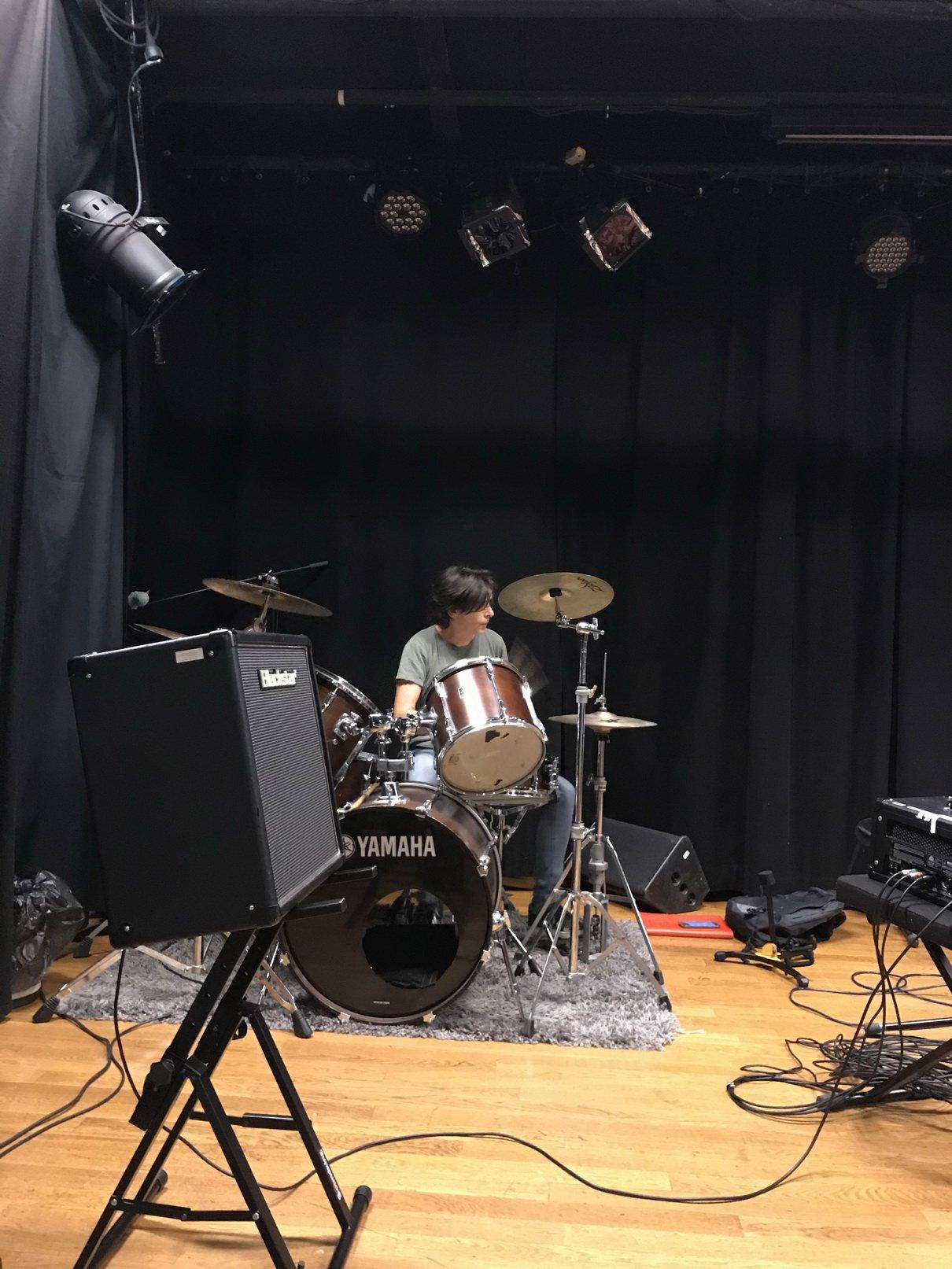 Annyvonne on drums